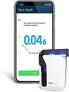 BACtrack 移动智能手机*器 | 专业级准确度 | 无线连接 Apple iPhone、Google 和三星 Android 设备 | Apple HealthKit 集成