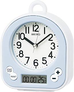 SEIKO 精工 时钟 挂钟 座钟 兼用 生活用防水 计时 温度 表示 模拟 厨房&浴室 浅蓝色 BZ358L SEIKO