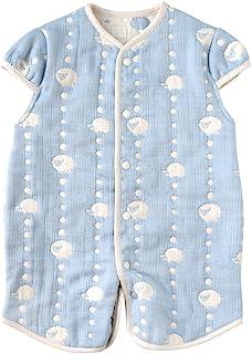 Hoppetta 10mois 蓬松纱布(6层纱布) 2way婴儿睡袋 棉100% 适合新生儿~3岁左右 蓝色