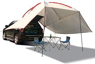 REDCAMP 防水汽车遮阳篷遮阳棚,便携式汽车遮阳篷露营拖车遮阳罩,适用于露营、户外、越野车、海滩米色/军*