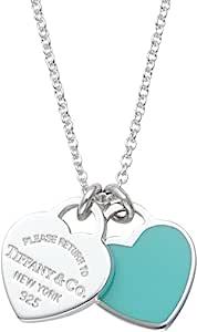 [蒂芙尼] TIFFANY 纯银/蓝釉抛光 RTT 双心形 吊牌 吊坠、项链(41cm) 【平行进口商品】 27125107