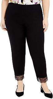 Alfani 女式加大码蕾丝下摆套穿裤,黑色,24W