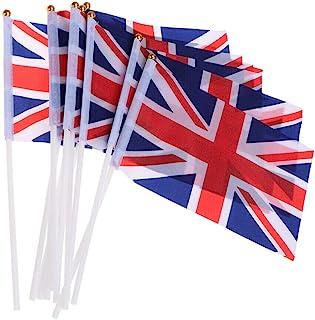 SHATCHI 5 件 - 100 件 Union Jack 街头派对手摇散装购买装饰庆祝旗帜体育活动酒吧烧烤皇家主题,100 件