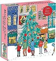 Galison 圣诞颂歌 1000 片拼图,带节日场景的圣诞拼图
