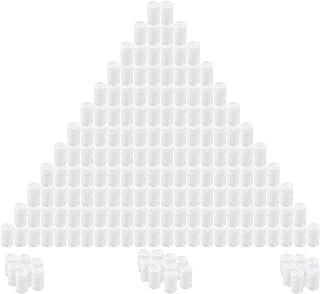 Houseables 带盖的薄膜罐,35 毫米空相机卷筒盒,白色,180 个装,8 盎司,2 英寸高,1 英寸宽,塑料,电影制作管,卷筒盒,适用于小配件,珠子