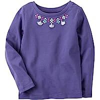 Carter's 女孩长袖流苏项链上衣;紫色 (18M)