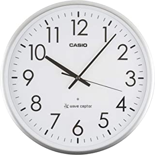CASIO 卡西欧 挂钟 电波 银色 直径36厘米 IQ-2000J-8JF 36.0×36.0×5.4厘米