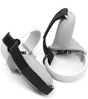 Oculus Quest 2 控制器硅胶盖和指关节带(灰色)- Quest 2 控制器硅胶抓握皮和表带提供*佳保护 - Ace Squad 防投掷防裂任务控制器套
