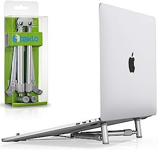 Steklo 笔记本支架可调节铝制电脑支架符合人体工程学可折叠便携式笔记本电脑支架,适用于书桌,兼容 12 13 14 15 16 17 英寸 Mac MacBook Pro Air PC X-支架,银色