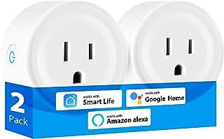 TEEKAR 智能插头,Alexa 迷你智能 WiFi 插头适用于 Alexa 和 Google Home,语音控制智能插座,带定时功能,智能插座,带 APP 控制,适用于客厅和卧室