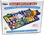 Snap Circuits 203 電路積木玩具,有益于大腦   超過200個STEM項目   4色項目手冊   42個捕捉模塊   無限樂趣