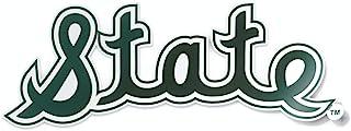 Nudge Printing 密歇根州 MSU 学院 保险馆 复古 书写 卷曲 州 斯巴达人 车窗 贴花 乙烯基 保险杠 贴纸 笔记本电脑贴纸 笔记本电脑贴纸 美国制造 在密歇根州东兰制造