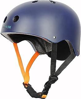 GEEROM 滑板头盔 CPSC ASTM 认证 抗冲击 通风 适用于自行车 滑板车 滑冰 直列滑冰 长板 适合儿童 青少年成人