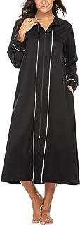Ekouaer 浴袍 女式柔软针织睡衣和服领长休闲裤 S-XXL 码