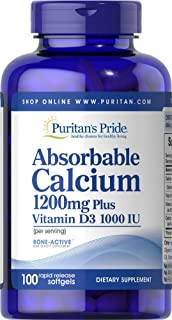 Puritan's Pride 普丽普莱 软胶囊,可吸收钙1200毫克,含维生素D 1000 IU,100粒