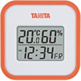 TANITA 百利达 温湿度计 温度 湿度 数码 壁挂式 带时钟 台式 磁铁 橙色 TT-558 OR