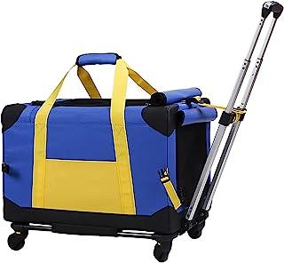 ELEGX 宠物滚轮载体带可拆卸轮子旅行滚轮载体,适用于小型和中型犬/猫,重量不超过 33 磅,可折叠透气