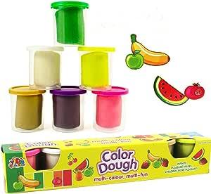 HABIBI 彩泥配件 DIY 6色混装 无毒 创意橡皮泥 儿童益智玩具