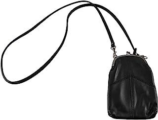 HOME-X 斜挎皮革手拿包,配有可拆卸肩带,女式迷你手提包