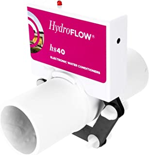 HydroFLOW HS40 | 环保盐水软化剂替代品 | 适用于大型家庭和住宅泳池的化学减压器 | 适合直径不超过 2.5 英寸(约 6.3 厘米)的管道