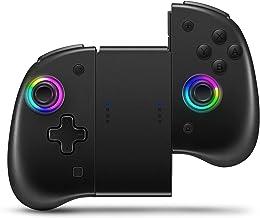 Binbok Joypad 控制器 无线 Joycon 支持 8 色可调节 LED 唤醒功能 带双振动 / 陀螺仪轴 / 背部按钮 L/R 控制器开关
