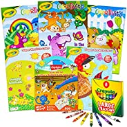 Crayola 绘儿乐 幼儿着色书 Crayola 学习套装套装 - 13 件 Crayola 动物着色活动书 绘儿乐 学习蜡笔巨型和 Crayola 贴纸(Crayola 学校用品)