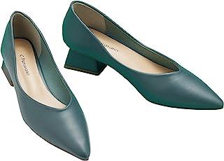 C.PARAVANO 女式高跟鞋 低方跟 搭扣尖头高跟鞋