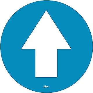 Avery 蓝色箭头圆形地板贴花,自粘圆形地板贴纸 Ø275 毫米,每包 4 个标志