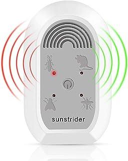 SunStrider 超声波害虫驱赶器 - 电子驱蚊插头室内使用驱蚊器,适用于老鼠、蟑螂、臭虫、蜘蛛等昆虫