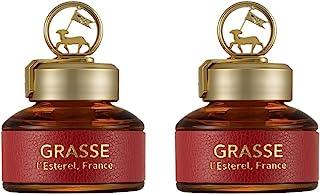 Bullsone Grasse L'esterel 天然汽车空气清新剂,豪华汽车香水 - 保加利亚玫瑰香味(2 件装)