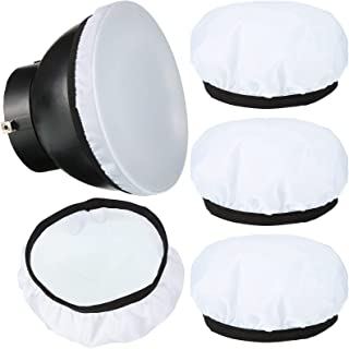 4 件扩散器灯袜子软扩散器灯罩 7 英寸/18 厘米标准扩散器浅袜子布扩散器浅袜子白色灯罩反射灯袜子适用于闪光灯 Speedlite