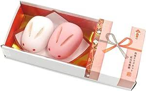 ALTA 日式点心 磁力贴 红白兔小包头/花结 MGW005495 2个装