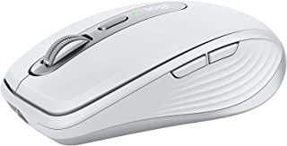 Logitech MX Anywhere 3 for Mac–小巧无线性能鼠标、任意表面超快磁滚动、4000DPI传感器、自定义按钮、USB-C、蓝牙、Apple Mac、iPad、Windows兼容-浅灰色