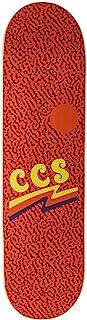 [CCS] 空白和图形滑板板 - 枫木 - 专业级(波浪时代橙色,20.96 厘米)