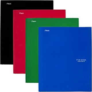 五星形口袋和爪镶文件夹,颜色随机 (34002) 4 Pack Primary