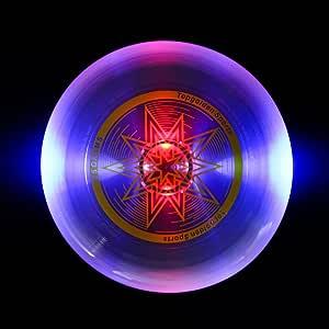 EZGETOP Ultimate Disc 175 克黑暗中发光飞盘,LED 发光飞盘,易于投掷和接住飞盘,适合所有年龄段的乐趣,非常适合草坪、公园、后院游戏和尾部