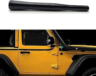 4.5 英寸(约 11.4 厘米)短天线替换件 适用于 2007-2017 Jeep JK 牧马人 Unlimited Sport Rubicon Sahara AM FM 无线电天线 铝合金