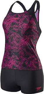 Speedo 女式 BOOM 印花布分体式泳衣套装