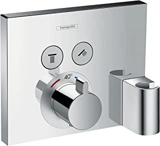 hansgrohe 汉斯格雅 ShowerSelect 暗装恒温器 带淋浴头支架 2种功能,镀铬