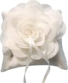 Eurobuy 花卉蕾丝戒指垫花卉装饰戒指轴承垫适用于婚礼订婚装饰,10X10cm