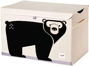 3 Sprouts 儿童玩具箱 — 大号存放,适合男孩和女孩房 熊