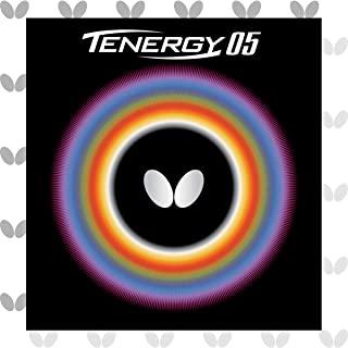 Butterfly Tenergy 05 乒乓球橡胶 | 蝴蝶乒乓球橡胶 | 1.7、1.9、2.1 尺寸 | 红色或黑色 | 1 个乒乓球拍橡胶板 | 专业乒乓球橡胶