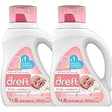 dreft 1阶:新生儿低变应原性婴儿洗衣液(HE),适合婴儿,新生儿或儿童的天然配方,50盎司/1.47升(32次使用…