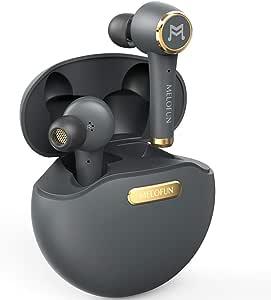 True 无线耳塞,TWS 蓝牙 5.0 耳机,运动入耳式立体声迷你耳机带麦克风超低音 IPX5 防水低延迟即时配对(自动配对)40H 播放时间带电池充电盒