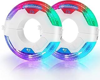 LED 自行车轮毂灯 21 种照明模式 自行车轮胎辐条灯 适用于夜间骑行 防水 超亮 有趣*的自行车礼物 适合男孩女孩成人。(2 件装)