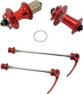 JOY INDUSTRIAL NOVATEC D791SB + D792SB MTB 32 孔圆盘集线器,带串,1 对,红色,NA2354