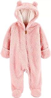 Carter's 卡特羊羔绒连帽婴儿车 粉色