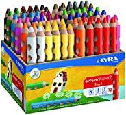 LYRA Groove Triple I 木架 带 72 支彩色铅笔,分类