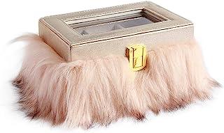[MERLETT] MERLETT ROSA. MR0131 首饰盒 粉色毛皮 MR0131