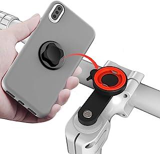 自行车手机支架,适用于自行车快速扣紧,通用铝合金 GPS 蓝牙扬声器支架骑行夹支架,MTB 公路自行车手机支架,适用于大多数类型的手机